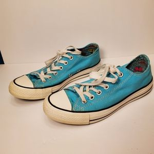 Converse All Stars Low Top Blue Double Tongue 9